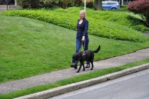 Deborah and Gypsy walk together